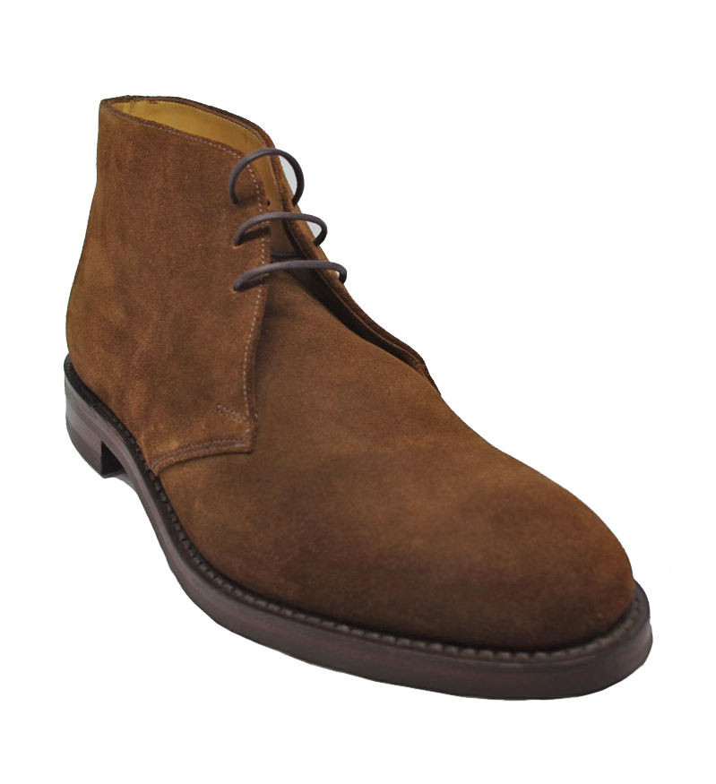 Loake Kempton Boot in Brown Suede