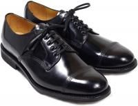 Sanders Military Style Derby Shoes 1128B in Black