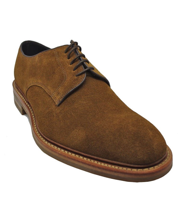 Loake Rowe Shoes in Tan Suede