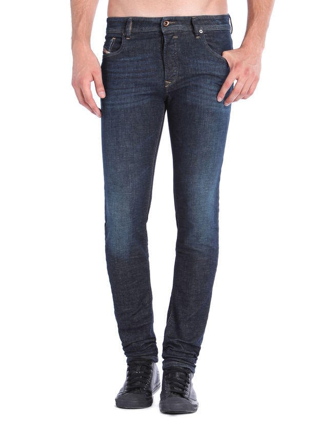 diesel sleenker jean skinny fit in dark navy