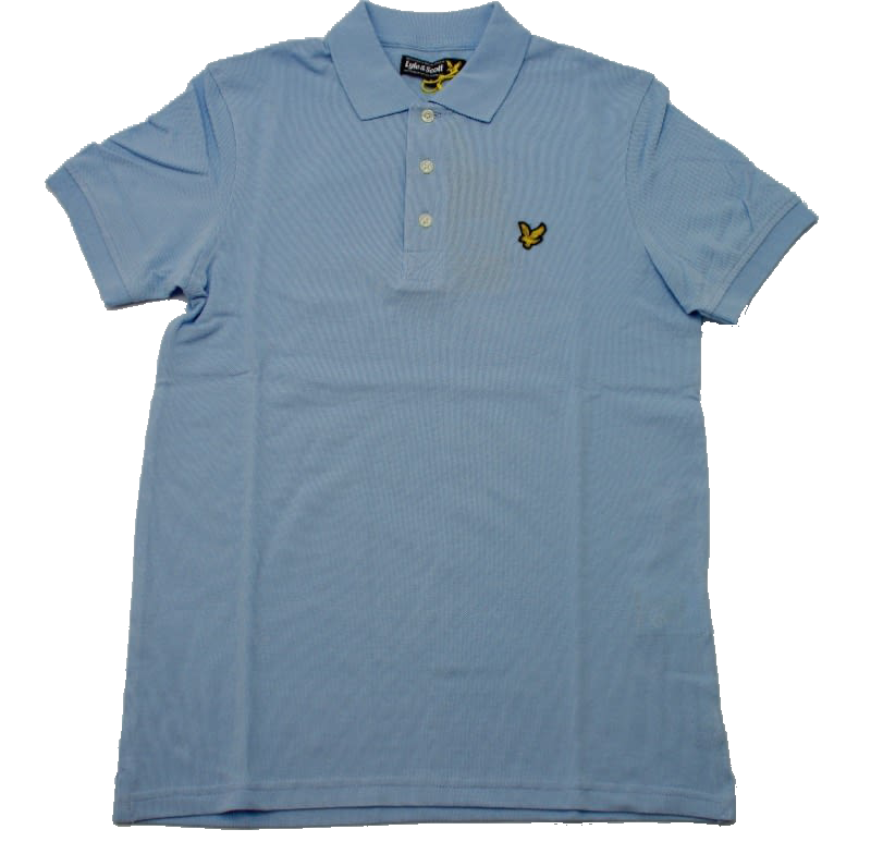 Lyle & Scott Classic Plain Pique Polo Shirt in Blue Lagoon