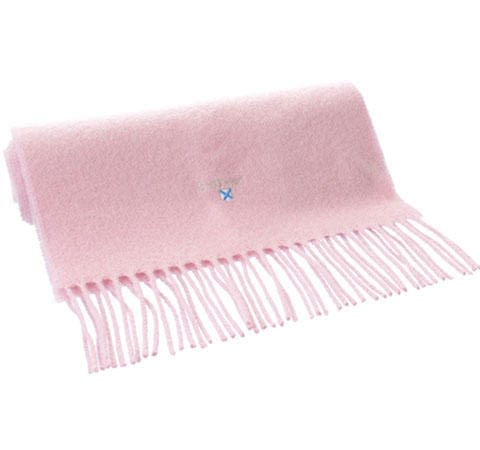 Barbour Plain Lambswool Scarf in Pink