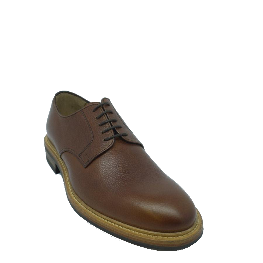 John White Dunsley Derby Shoe in Brown Grain