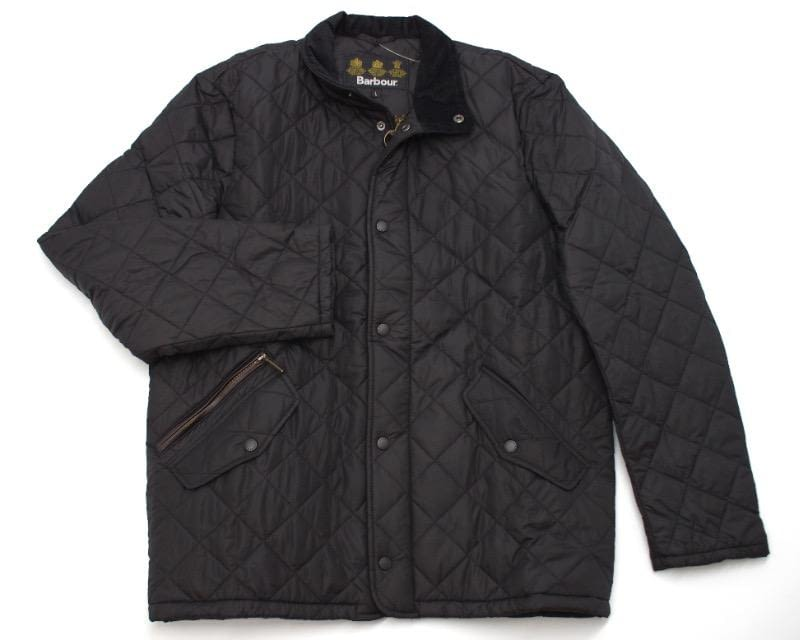 Barbour Chelsea Sportquilt Jacket in Black