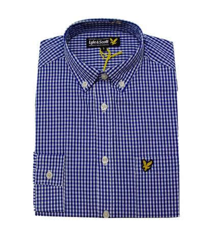 Lyle & Scott Gingham French Navy Shirt