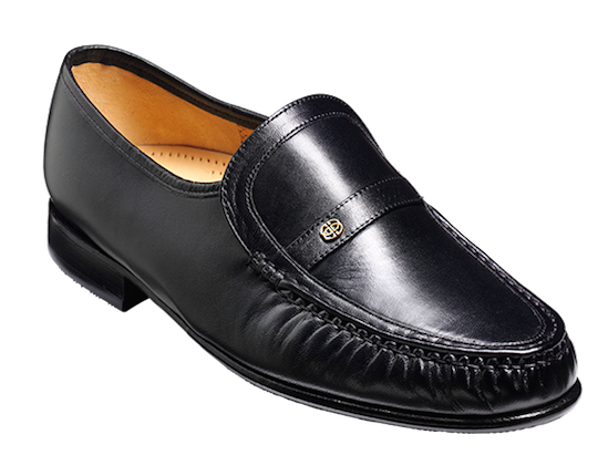 Barker Jefferson Large Size Slip On Loafer in Black