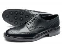 Loake Chester Brogue Shoe in Black