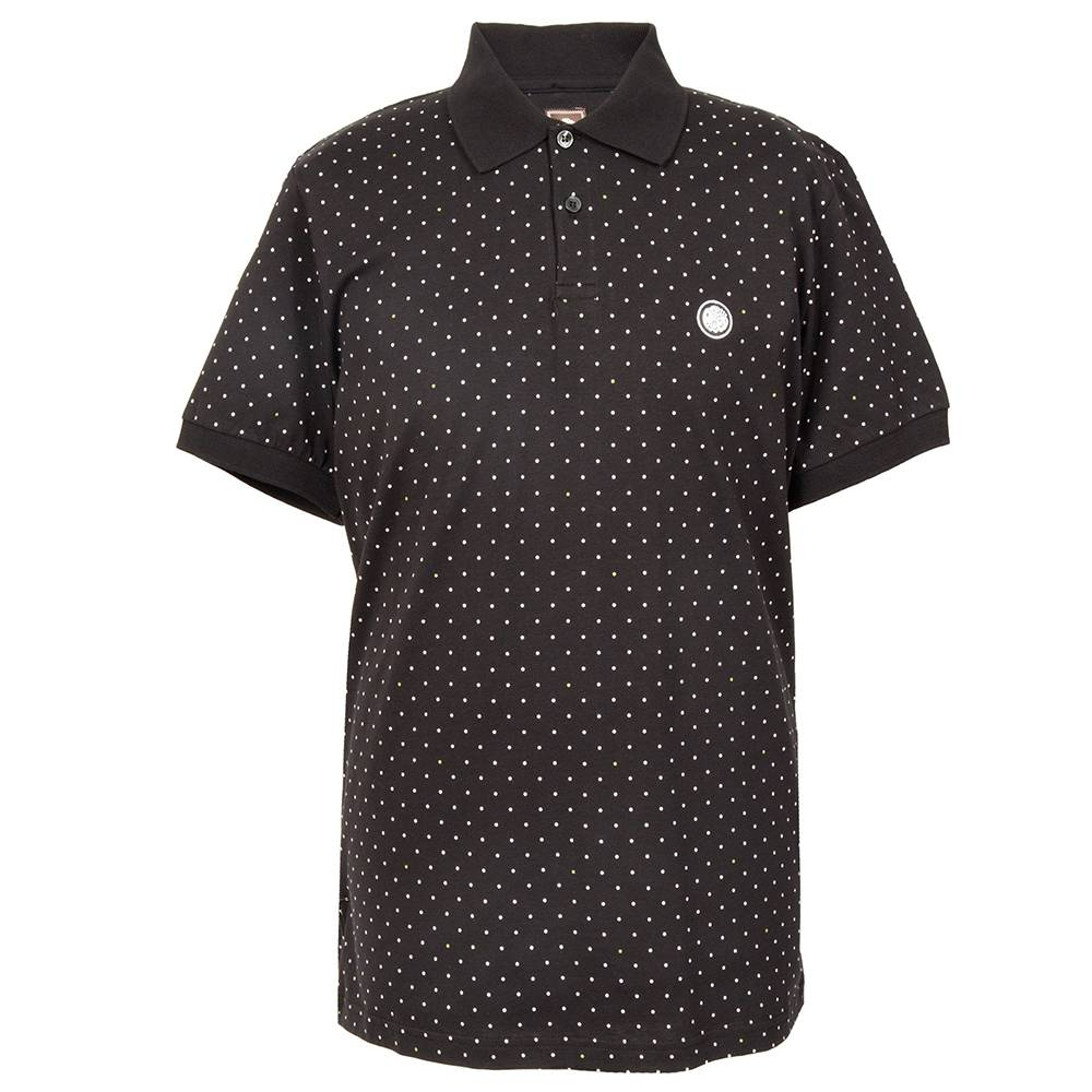 Pretty Green Polka Dot Polo In Black