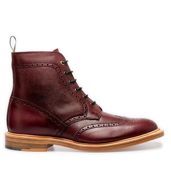 NPS Shoes Heath 6 Eye Derby Boots in Burgundy
