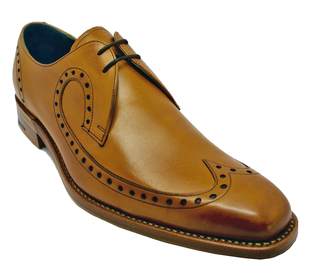 Barker Woody Derby Brogue in Cedar Calf