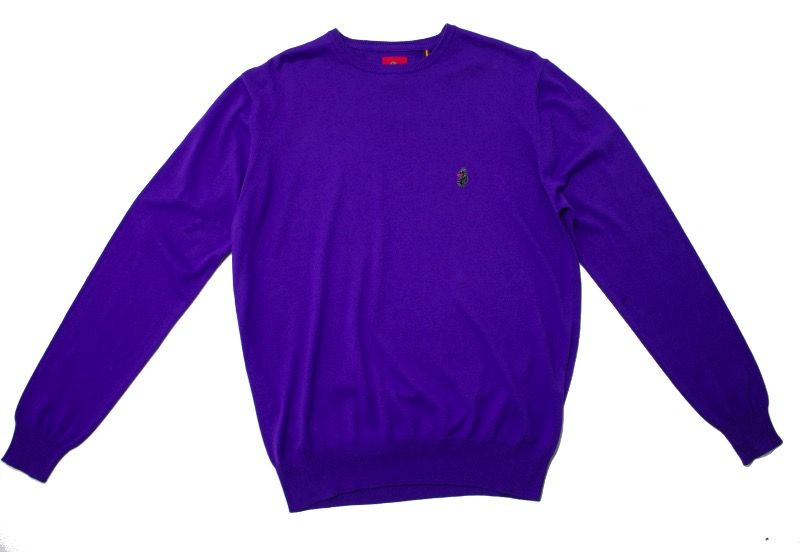Luke Gerards Crew Neck Jumper in Purple
