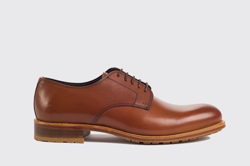 John White Blenheim Calf Shoe In Tan