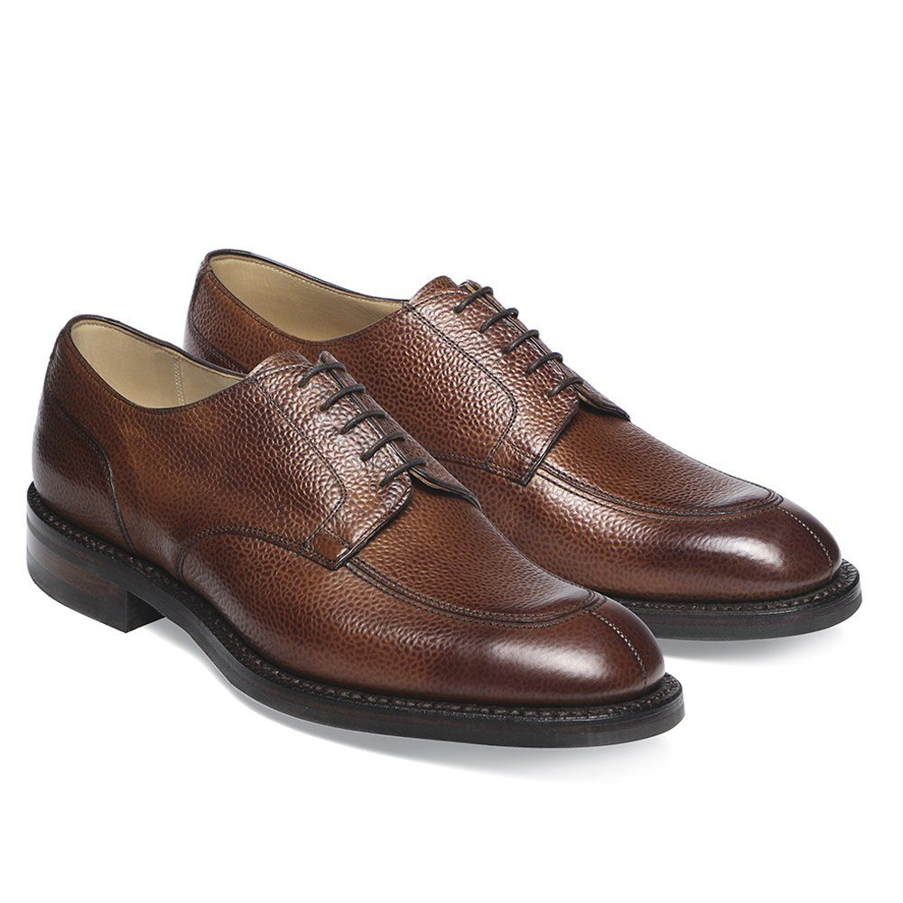 Joseph Cheaney Chiswick R Derby In Mahogany Grain Leather
