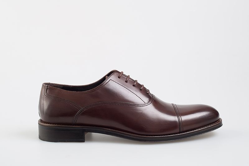 John White Kingsway Oxford Shoe In Brown