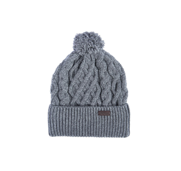 442d163d6a9 Barbour Cable Knit Beanie Hat in Gray