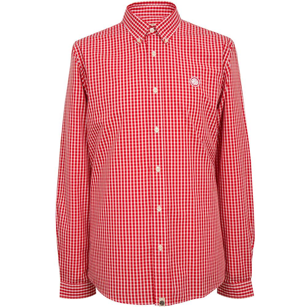 Pretty Green Glendale Gingham Shirt In Red