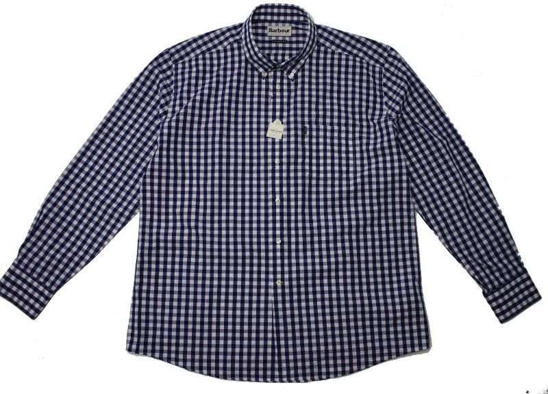Barbour Auton Checked Shirt in Navy