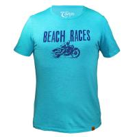 Tonn T-Shirt Beach Races in Turquoise