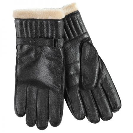 Barbour Leather Utility Glove In Black