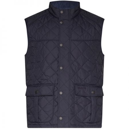 Barbour Explorer Quilted Gilet In Navy