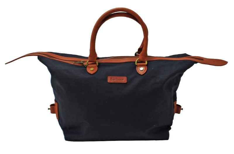 Barbour Floral Bloom Mini Holdall Handbag in Navy