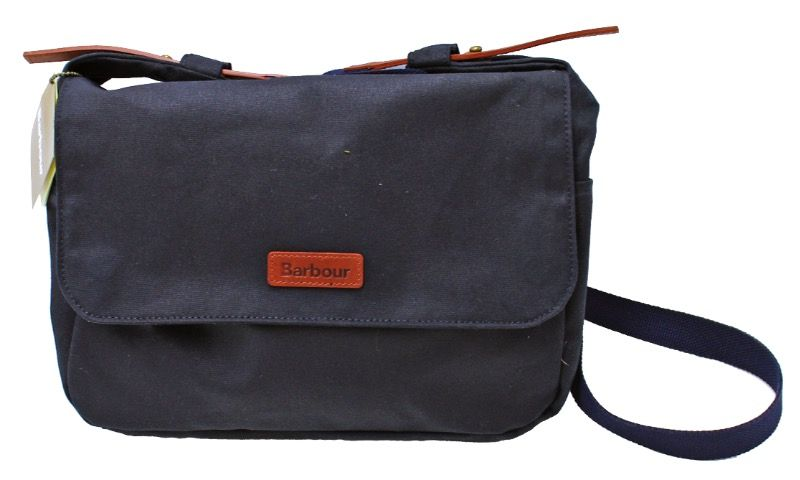 Barbour Wax Floral Bloom Messenger Bag in Navy