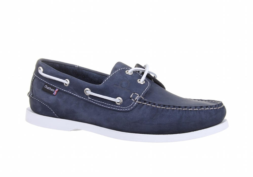 Chatham Pacific Big Size G2 Boat Shoe in Navy
