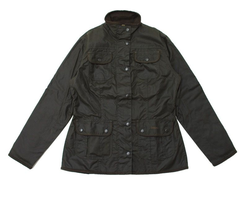 Barbour Ladies Utility Waxed Jacket in Olive