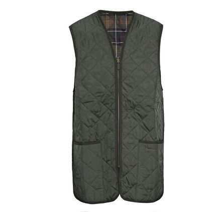 Barbour Quilted Gilet / Zip In Liner in Olive