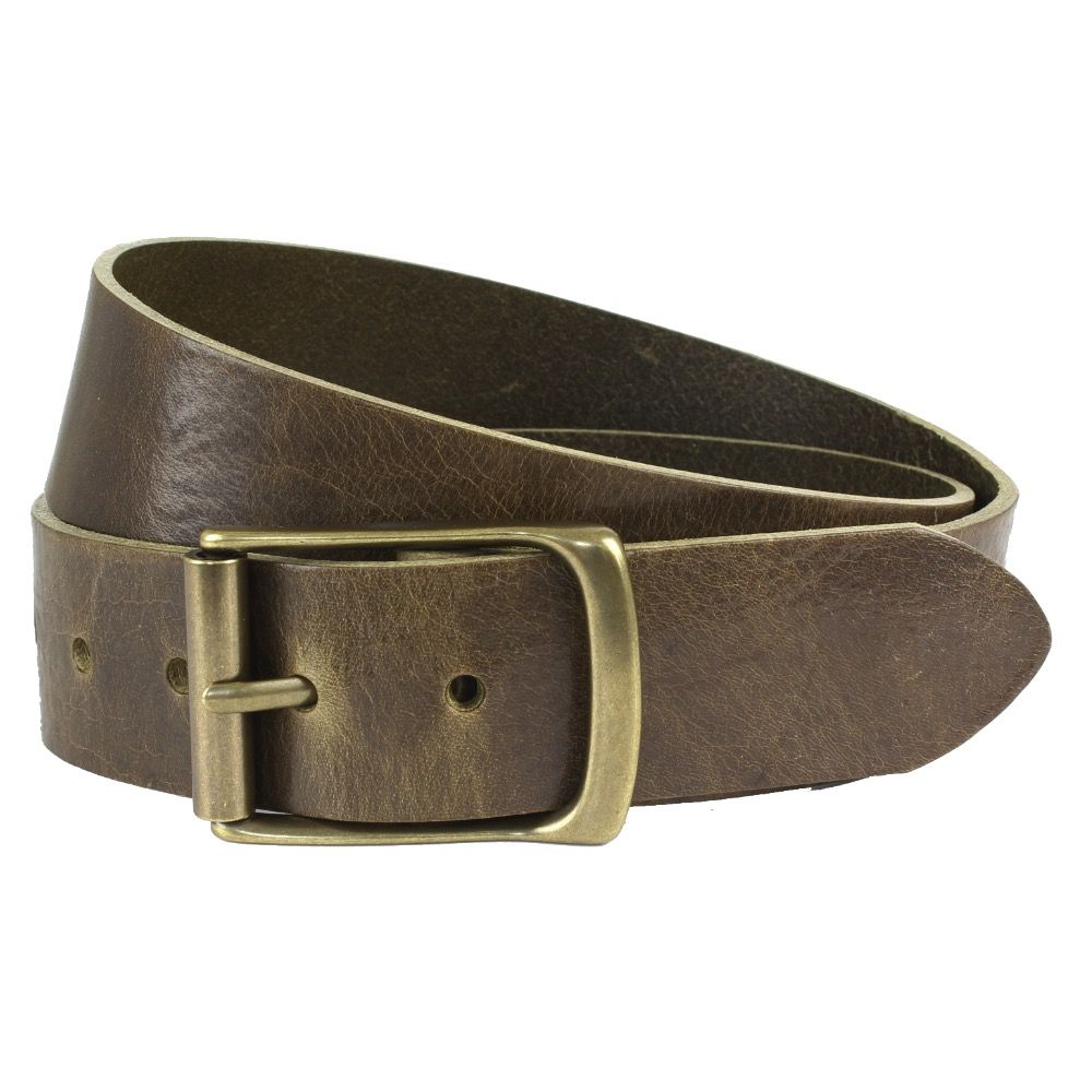 The British Belt Company Rollerston Olive Belt