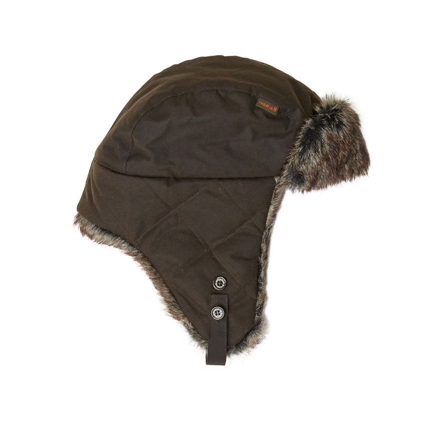 e6155b3cd66 Barbour Wax Grasmere Trapper Hat in Brown