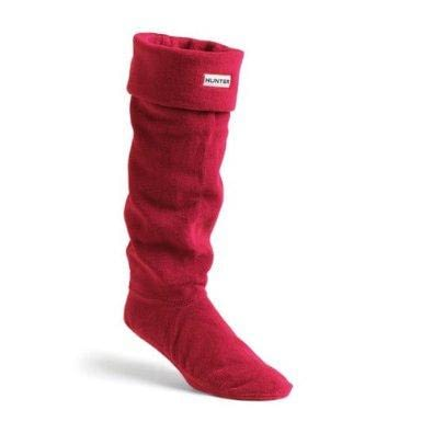 Hunter Unisex Welly Socks Red