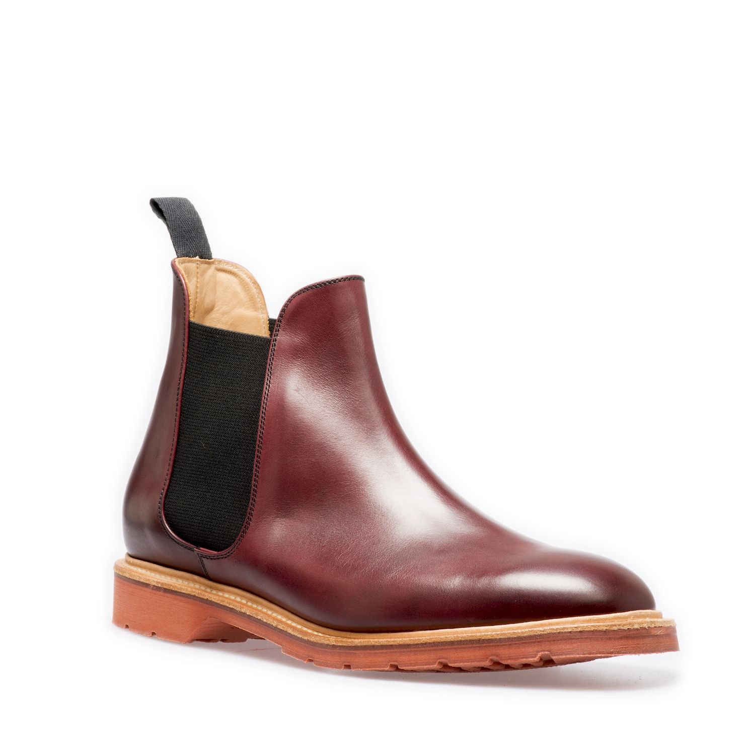 Solovair Chelsea Boot In Burgundy