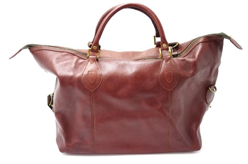 8dc44c1afea Barbour Leather Medium Travel Bag in Brown