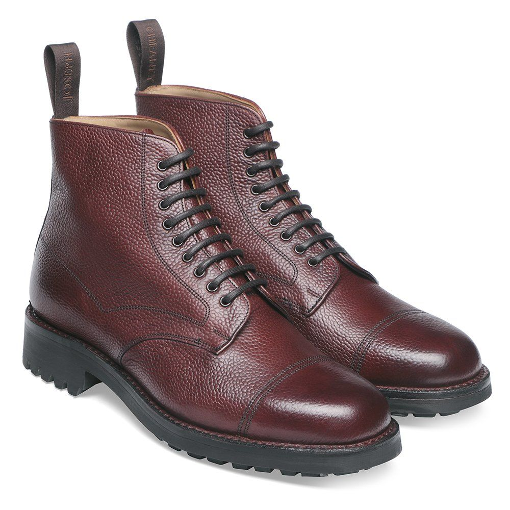 9e92b83c97e Joseph Cheaney Pennine II R Country Derby Boot In Burgundy Grain Leather