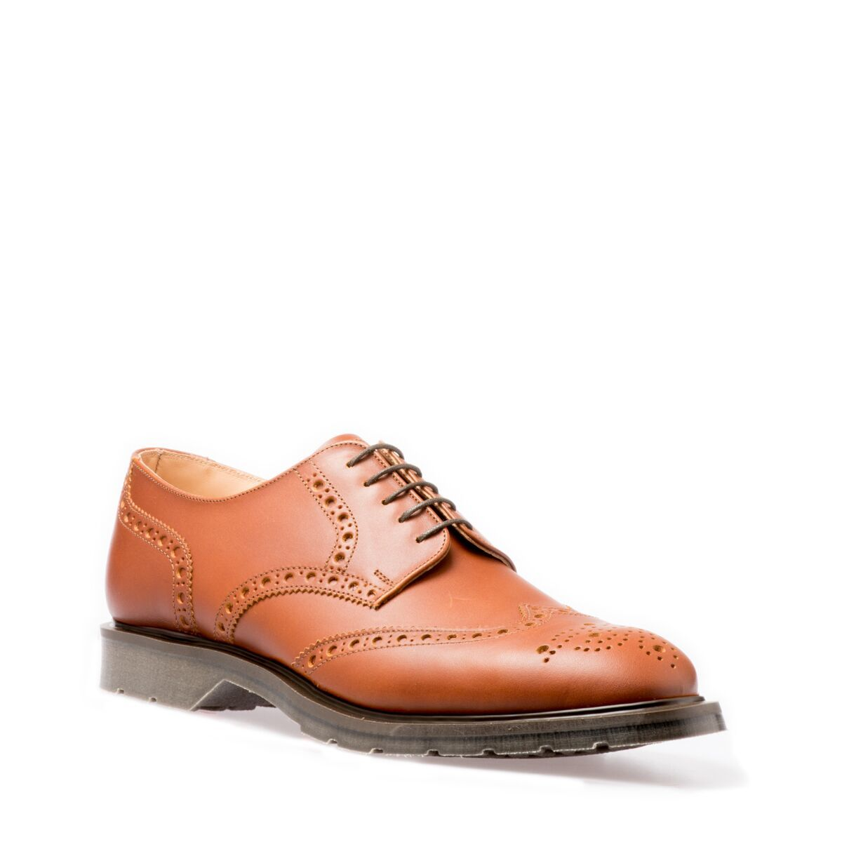 Solovair 4-eye Gibson Brogue in Chestnut
