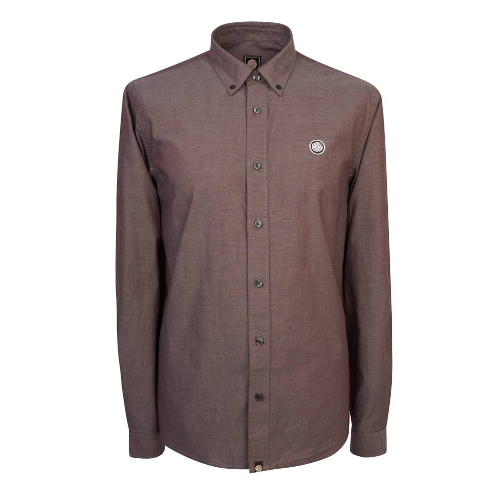 Pretty Green Oldbury Shirt In Burgundy