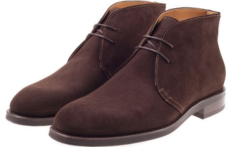 John White Augusta Classic Suede Chukka Boot In Brown