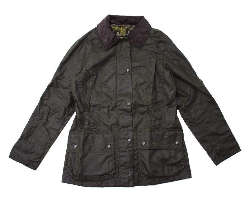 Barbour Classic Beadnell Waxed Jacket in Olive
