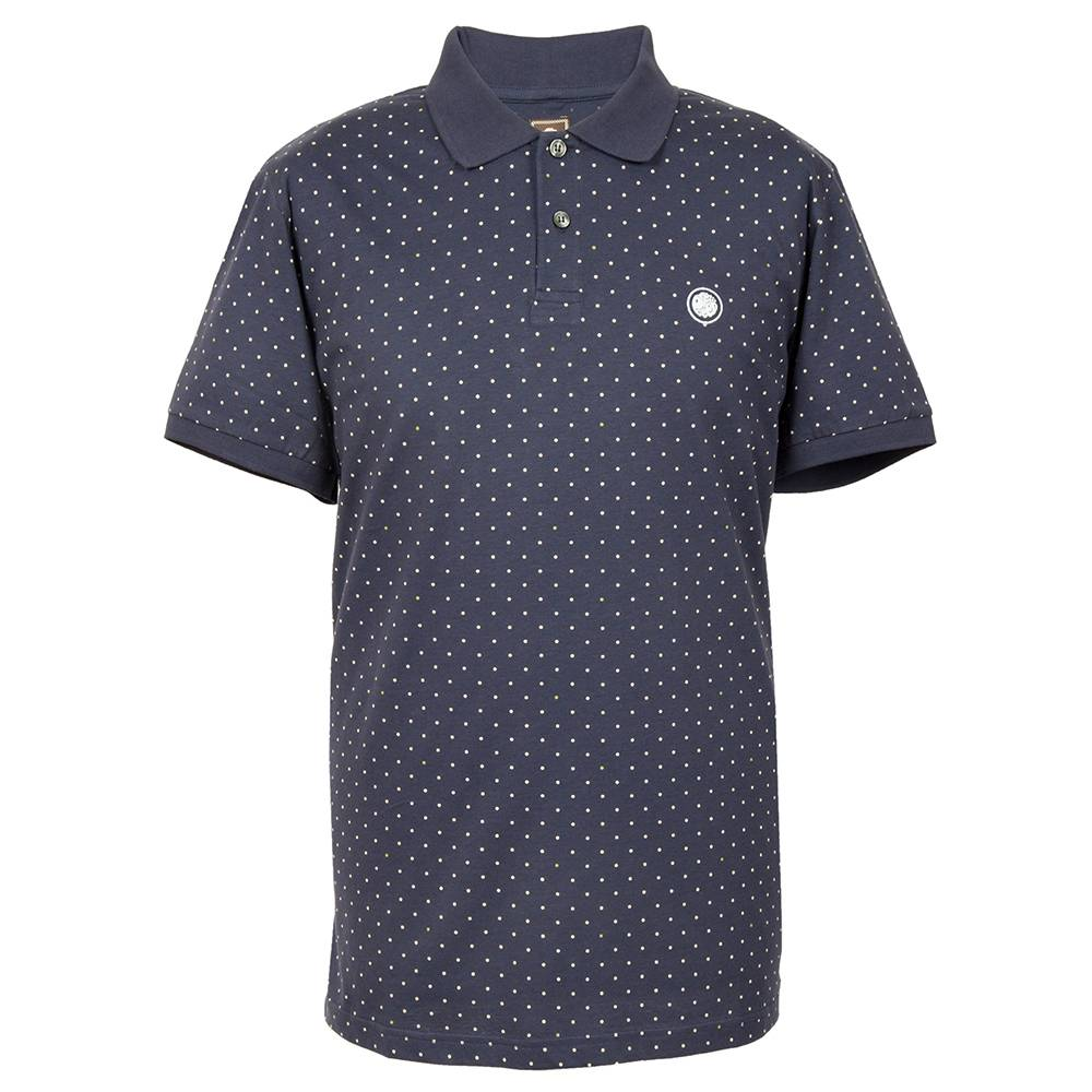 Pretty Green Polka Dot Polo In Navy
