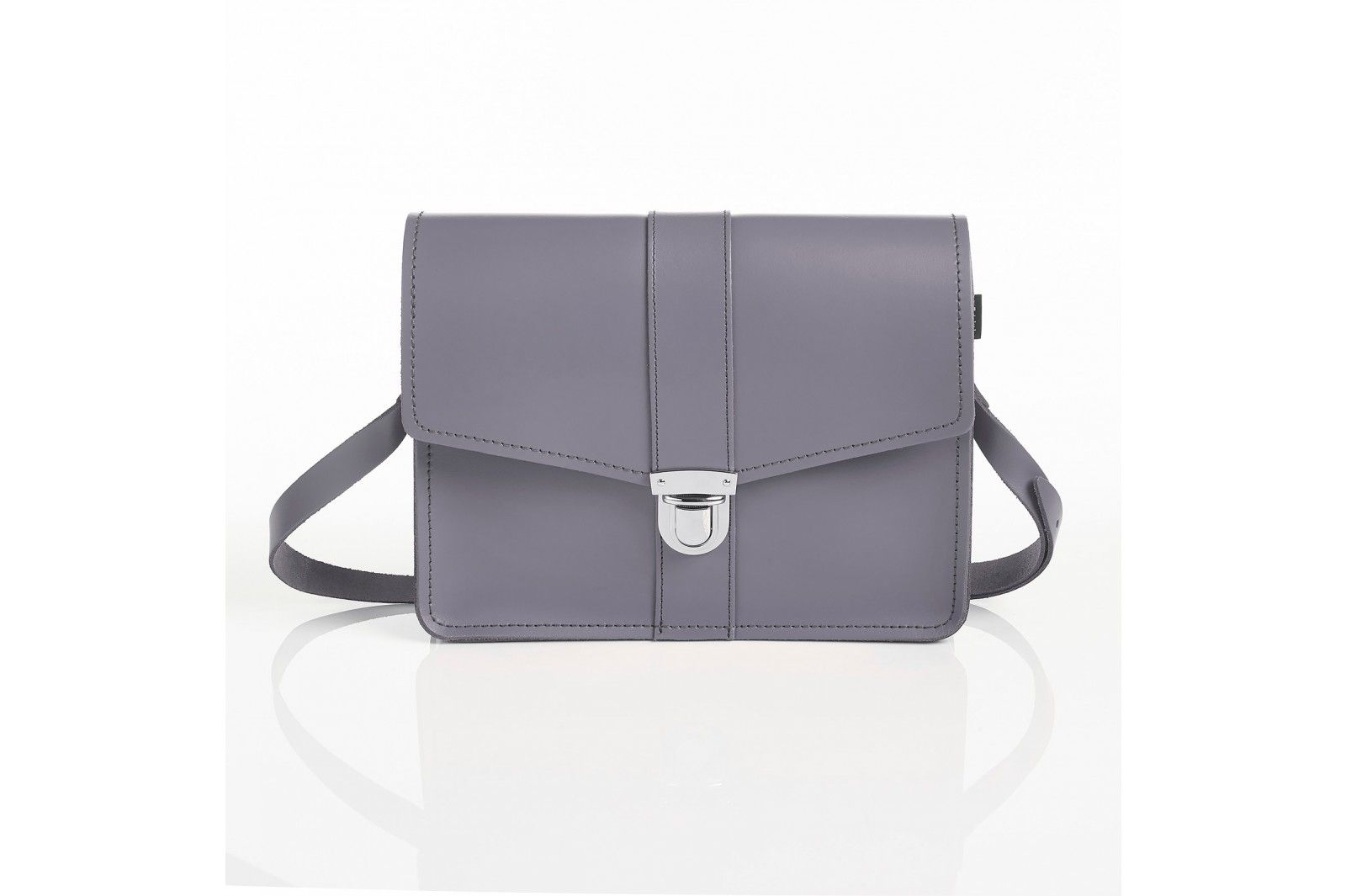 Zatchels Stanford Shoulder Bag In Lilac Grey
