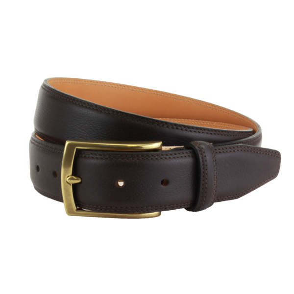 The British Belt Company Stanley Formal Leather Belt In Brown