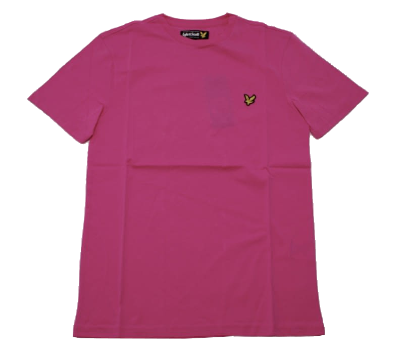 Lyle & Scott Vintage Crew Neck Jersey T-shirt in Hot Pink
