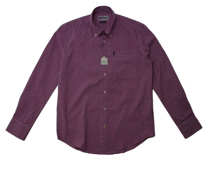 Barbour Leonard Gingham Check Shirt in Raspberry