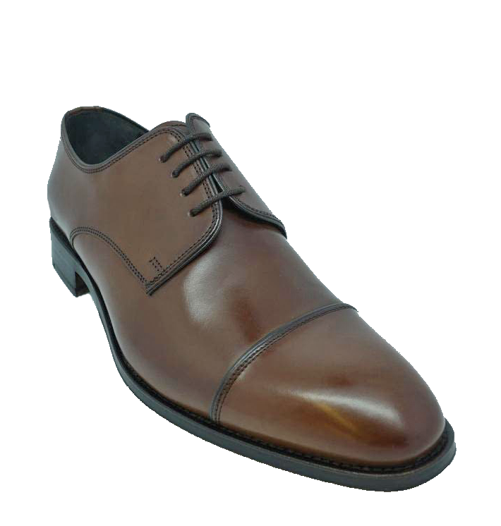 John White Finsbury Capped Lace Up Shoe in Brown Calf