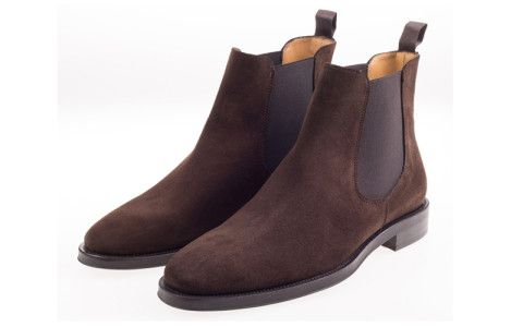 John White Portchester Suede Chelsea Boot In Brown