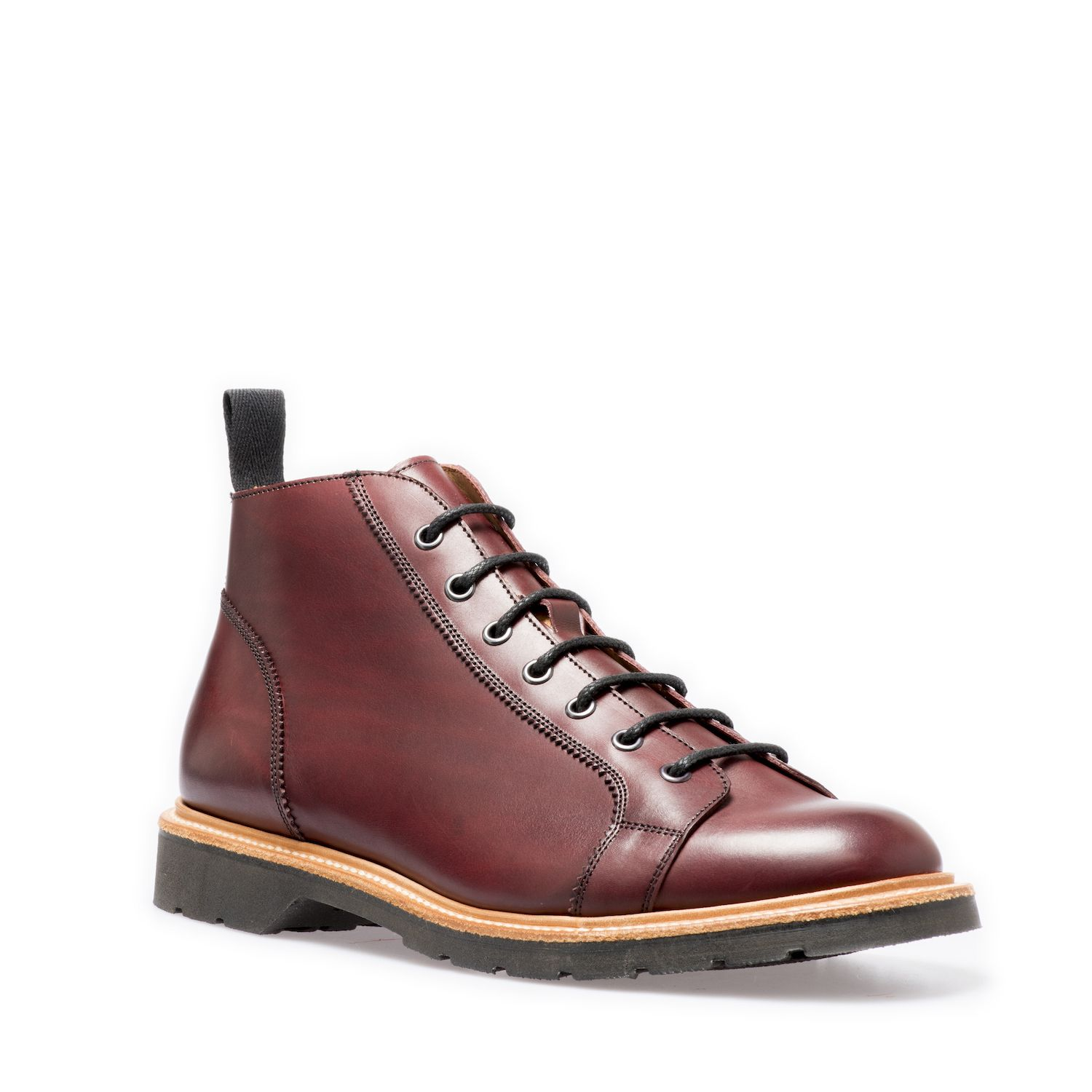 Solovair Monkey Boot In Burgundy