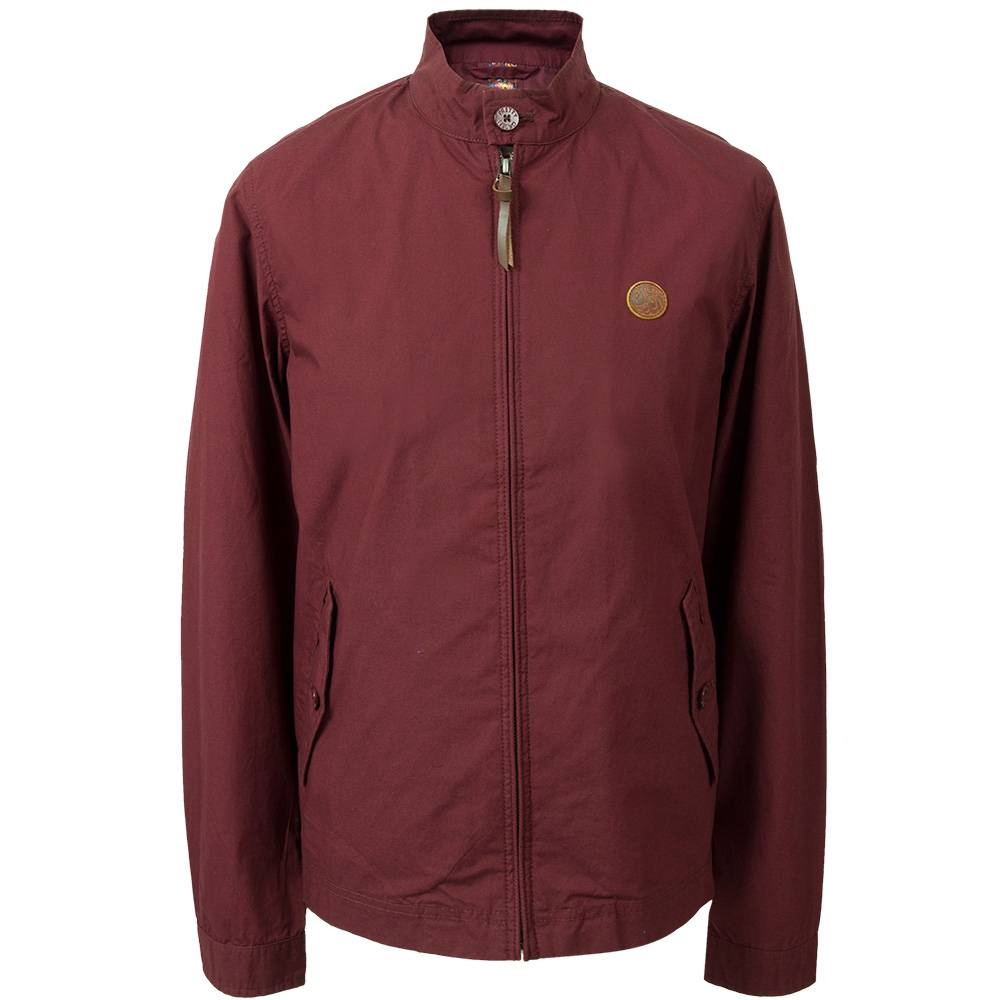 Pretty Green Kingsway Harrington Jacket In Burgundy
