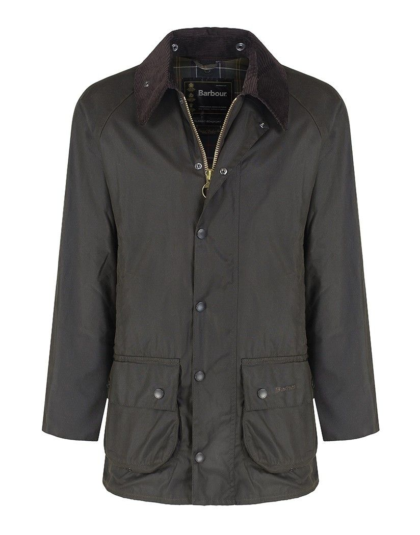BARBOUR CLASSIC BEAUFORT SYLKOIL WAX JACKET In OLIVE