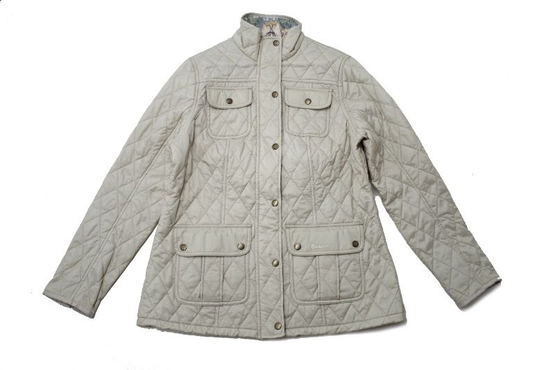 Barbour Alice Quilted Jacket in Pearl